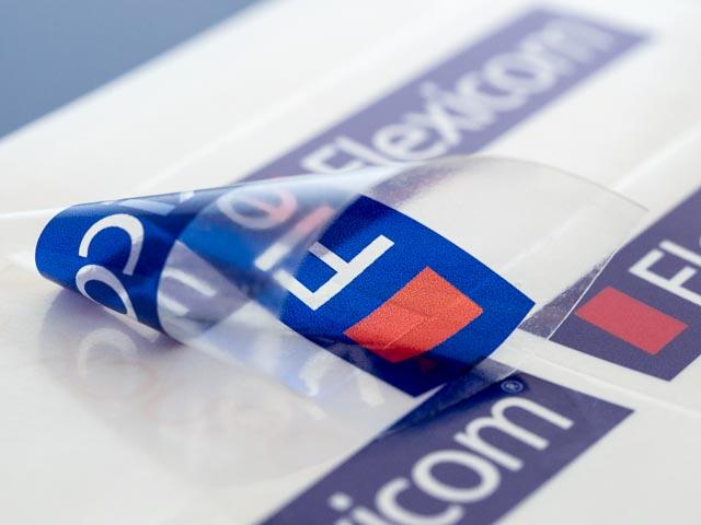 Flexicom Gmbh Pet Inkjet Etiketten Klar Transparent
